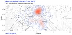 Heatmap der beliebtesten Berliner AirBnBs