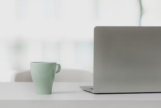 Laptop white background