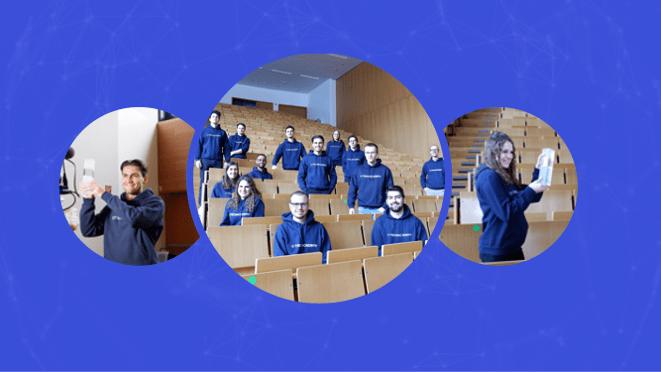 Bilder von TechAcademy Studierenden mit dem Preis Studierende des Jahres 2021